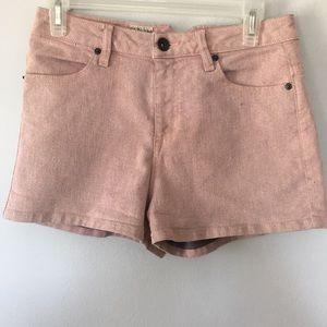 Volcom Pink Shorts Women's Size US 7/28